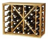 Expovinalia Botellero con Capacidad para 34 Botellas, Roble Claro, 54x68x32 cm