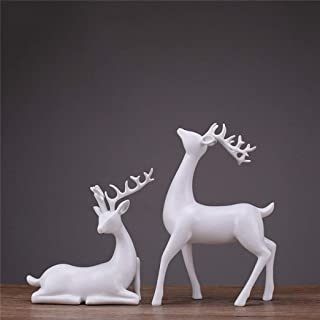 PANRODO Deer Figurines Sculpture European Style Resin Wine Cabinet Ornaments Wedding Gifts Animal Statues