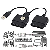 TraderPlus 2 Pack Controller Adapter for PlayStation 2 to USB for Sony PlayStation 3 and PC Converter Cable...