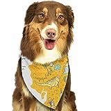 YAGEAD Pañuelo para Perros Cachorro y pañuelos para Mascotas, Mapa de...