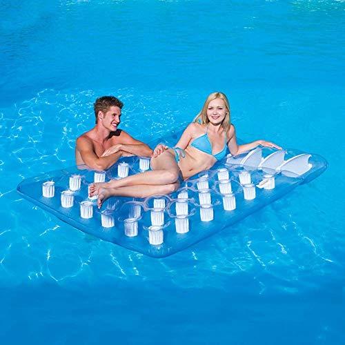 NLRHH Plegable Piscina, Agua colchón Inflable, Fila Flotante de Doble Piscina Inflable, Juguetes inflables, Juguetes sofás natación Anillo de Fiesta en la Playa Fila de Playa flotando Peng