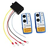 CARCHET® 12V Inalámbrico Cabrestante Control Remoto Kit Winch