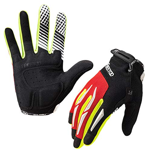 FREETOO Fahrradhandschuhe Radsporthandschuhe Vollfinger Mountainbike Handschuhe für Herren und Damen - Ideal Gloves für Road Race, Radsport, Reiten, Wandern, Bergsteigen und mehr Sports im Freien