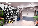 Fotomural Vinilo para Pared Motos Blanco y Negro | Fotomural para Paredes | Mural | Vinilo Decorativo | Varias Medidas 200 x 150 cm | Decoración comedores, Salones, Habitaciones.