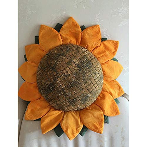 longsing Throw Pillow Home Accessories Decoration Creative Sunflower Hug Pillow Sofa Bed Cushion Padded Pillow Gift For Friends Colorful Cushion (Size : S size)