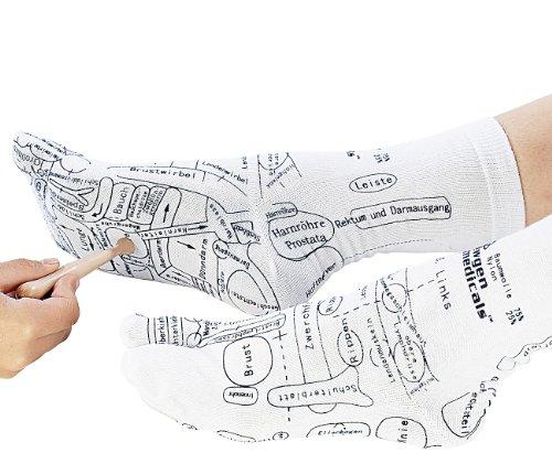 Newgen Medicals Massagesocken: Druckpunkt-Socken für Fuß-Reflexzonen-Massage, Gr. 38-40 (Akupressur Socken)