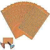 TANCUDER 10 PCS Placa de Prototipos 9x15 cm Prototipo de Placa Universal Prototipo de Placa de Circuito Placa de Circuito Impreso Prototipos Electrónicos de Bricolaje para Laboratorio Oficina