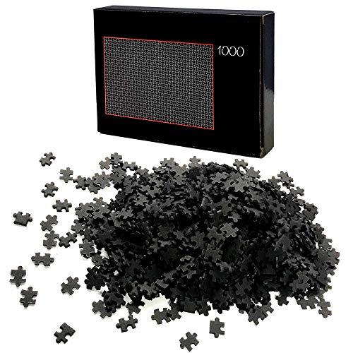 HAC24 Puzzle 1000 Teile Schwarz Schwer Erwachsenenpuzzle Premiumpuzzle Geduldsspiel Erwachsene Knobelspiel