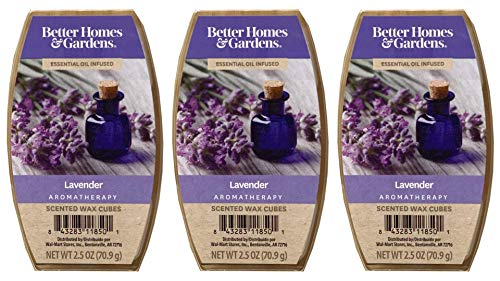 NA Better Homes and Gardens Lavender Essential Oil Infused Wax Cubes - 3-Pack