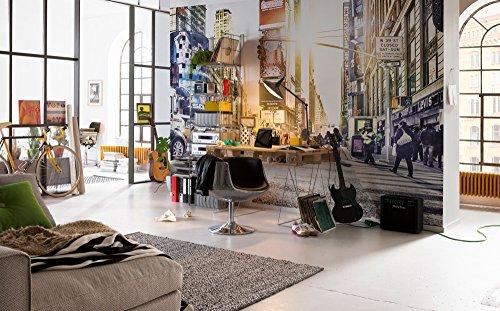 Komar - Vlies Fototapete TIMES SQUARE - 368 x 248 cm - Tapete, Wand, Dekoration, Wandbelag, Wandbild, Wanddeko, New York, Beleuchtet - XXL4-008