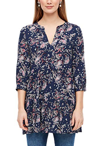 s.Oliver RED LABEL Damen Long-Bluse mit Ornament-Muster navy paisley AOP 38