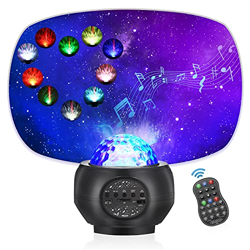 Star Ocean Projector Night Light , 32 Models Nebula Starry Projector, Galaxy Projector for Bedroom/Home Theatre/Party Bluetooth Adults Kids with Music Speaker, Voice & Remote Control