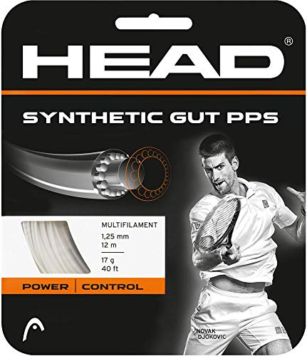 HEAD Synthetic Gut PPS Multifilament Tennis Racket String Set - White, 16 Gauge