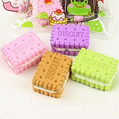 Kreative Sandwich Kekse Radiergummi Cookie Modellierung Gummi Radiergummis Schreibwaren Schulbedarf Schreiben Zeichenwerkzeug, 1