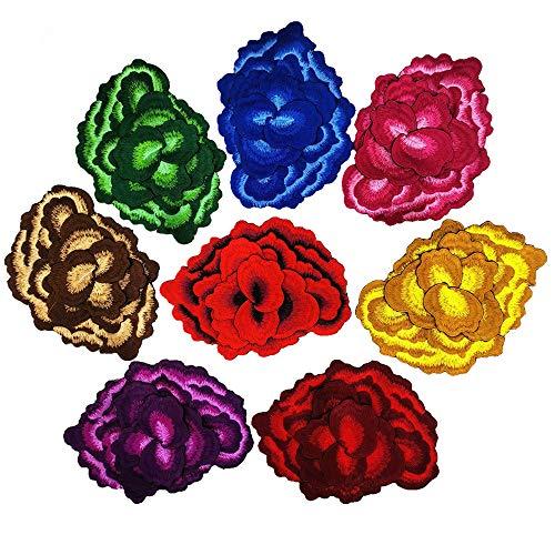 3D Borduurwerk Bloem Applique Motief Badges Naaien op Patches Versiering voor Kleding Hoed Versierde Naaibenodigdheden 1 stuk mix 7 pieces