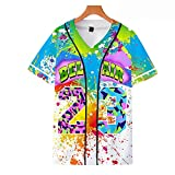 Whthoir Bel Air #23 Baseball Jersey for Women 90s Theme Party Hip Hop Fashion Blouses for Birthday Party, Club and Pub (X-Large, Paint)