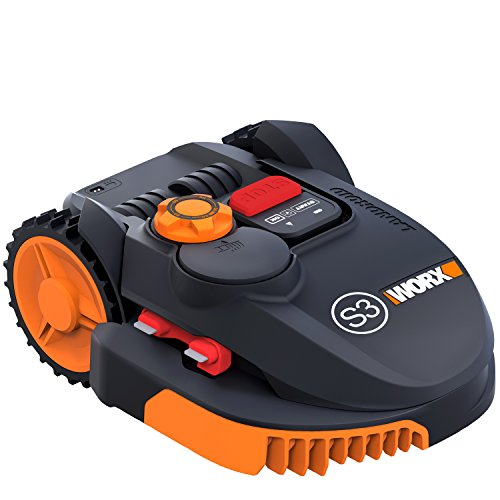 WORX WR110MI Wi-Fi Enabled Robotic Mower, 20 V, Black