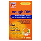 Rite Aid Cough DM 12 Hour Cough Relief Suspension, Orange Flavor, 3 fl oz | Cough Suppressant