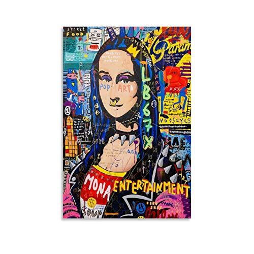 Mona Lisa Abstrakte Kunst - Poster su tela e stampa artistica da parete, 30 x 45 cm