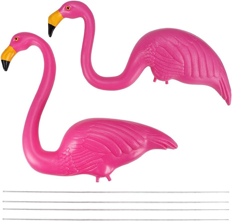 SALUTUY Garden Max 56% OFF Crane Statues New product! New type Bright Colors Plastic Bird Decorat