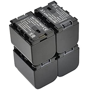 BTBAI Compatible bn-vg121 Battery for jvc bn-vg107 bn-vg114 bn-vg138 bn-vg107u bn-vg114u bn-vg121u bn-vg138u digital camera video camcorder (4x Battery+Charger AC Dual)