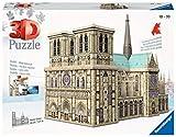 Ravensburger- Puzzle 3D 324 pièces Notre-Dame de Paris, Color néant, 34,2x16,4x25,8cm (12523)