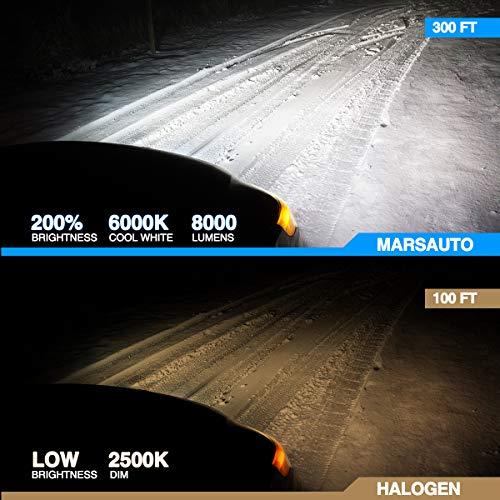 Marsauto 9006 Headlight Bulbs
