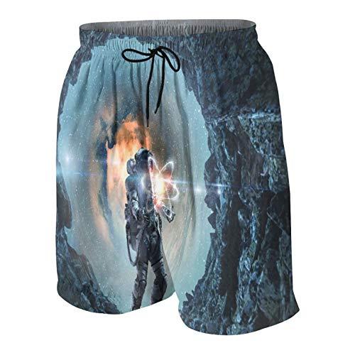 MAYBELOST Pantalones Cortos de Playa para Hombre,La astronomía como Ciencia,Trajes de baño de Secado rápido Trajes de baño con Forro de Malla y Bolsillos