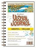 Pro-Art-Bilderpalette Papier Strathmore visuel Journal Bristol vélin 14cm x 20cm, 24Feuilles