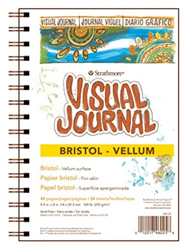 "Strathmore 300 Series Visual Bristol Journal, 5.5""x8"" Vellum, Wire Bound, 24 Sheets"
