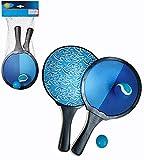 Smart Planet Beach Tennis – Set doppio – 2 racchette 2 palline gioco in velcro con mini...
