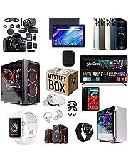 Kishan Bedding Mystery Box Elektronik, Mystiska lådor slumpmässig, födelsedagsöverraskningslåda, Lucky Box för vuxna överraskningspresent, till exempel drönare, smarta klockor, spelkuddar och mer, bästa presenten till semestrar