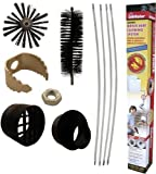 Supco RLE202 Dryer Vent & Duct Cleaning Kit- 12 Ft