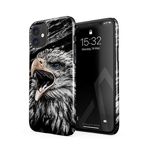 BURGA Hülle Kompatibel mit iPhone 11 - Handy Huelle Vogel Wild Adler Eagle Savage Dünn Robuste Rückschale aus Kunststoff Handyhülle Schutz Hülle Cover
