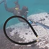 Surebuy Tubo de Goma para Pesca submarina, Tubo de Goma para Fusil de látex Natural 3 x 16 mm para Pesca submarina(Black)