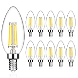 LANGREE E12 LED Candelabra Base Bulbs 60W Equivalent, 5W LED Candle Light Bulbs, LED Chandelier Light Bulbs, Non-Dimmable, 5000K Daylight White, 550LM - Pack of 10