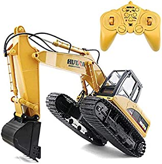 Happytoys 2.4GHz 11CH Alloy Engineering Electronic Excavator Heavy Machinery RC Toys Car Truck 1550