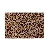 Felpudo de Animal Print de Fibra de Coco Natural de 40x60 cm - LOLAhome