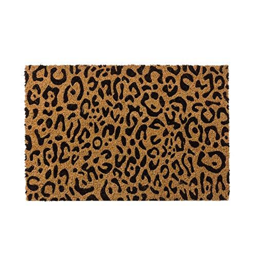 Felpudo de Animal Print de Fibra de Coco Natural de 40x60 cm - LOLAhome ✅