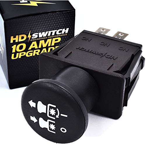 HD Switch Blade Clutch PTO Switch Replaces Ferris, Snapper Simplicity 5022180 with 10 AMP Upgrade