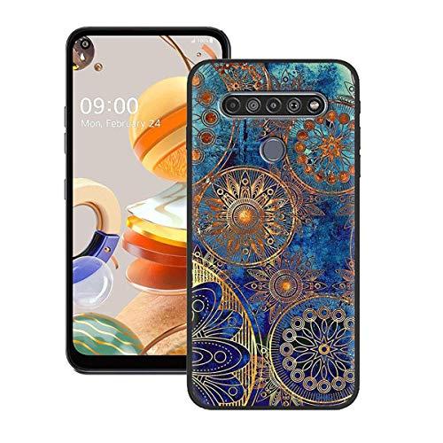 YZKJ Hülle für LG K61 Cover Weiche Handytasche Schwarz TPU Handyhülle Silikon Tasche Schale Hülle Schutzhülle für LG K61 (6.5