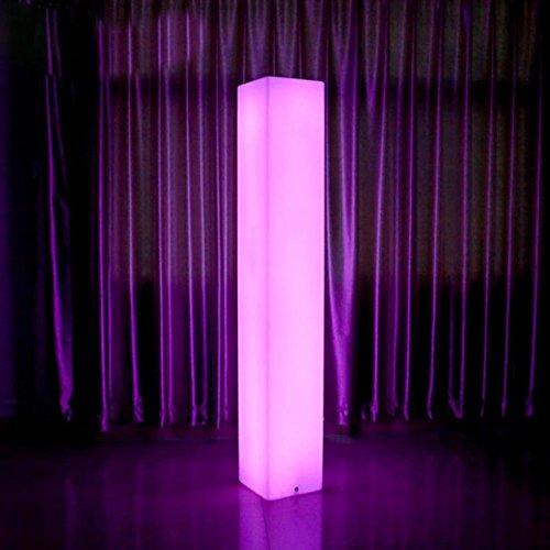 QMMCK staande lamp, creatief, waterdicht, met afstandsbediening, 7 kleuren, robuust, decoratie voor een groot aantal plaatsen