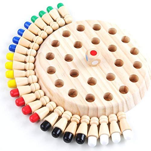 UYKSWSW Wooden Memory Matchstick Chess Kidte Children Wooden Memory Matchstick Chess Game Parent-Child Chess Iq Board