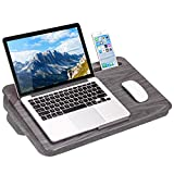 LapGear Elevation Lap Desk with Booster Cushion -Gray Woodgrain - Fits up to 17.3 Inch Laptops -...