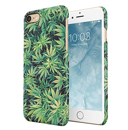 Weed Stoned Marijuana Leaves Compatible with iPhone 7 / iPhone 8 / iPhone SE 2020 SnapOn Hard Plastic Phone Protective Case Cover