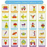 Lewo 230 Pezzi Blocchi di Legno Puzzle di Legno Classico educativo Giocattoli Montessori Set di Tangram per Bambini #3