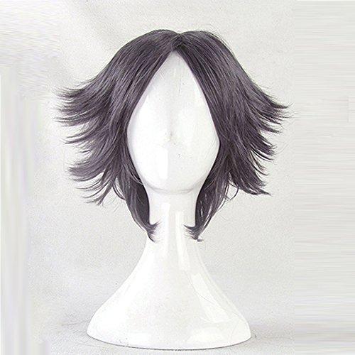 The Prince of Tennis Atobe Keigo Grey Purple Short Cosplay Wig + Free Wig Cap