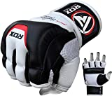 RDX MMA Gloves for Martial Arts Training & Sparring | Cowhide Leather Mitts for Grappling, Kickboxing, Muay Thai, Punching Bag & Cage Fighting