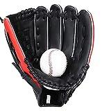Tollmllom Gant de Baseball Gants de Base-Ball Pitcher Enfants Adolescents et Adultes Right Hand Throw Gants de Softball pour Les Sports de Plein air (Couleur : Black, Size : 11 inch)