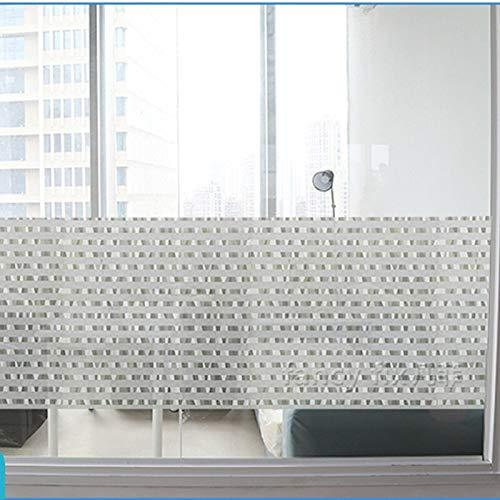 N / A Kommerzielle Fenster Privatsphäre Film klebefreie Dekoration Büro Trennwand Film Fenster Glas Aufkleber Home Dekoration Film A12 50x200cm